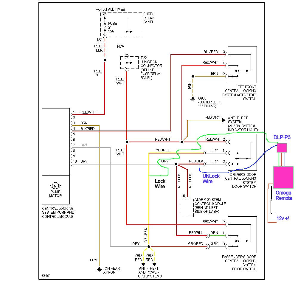 Normally Open Circuit Diagram on alarm door contacts wiring