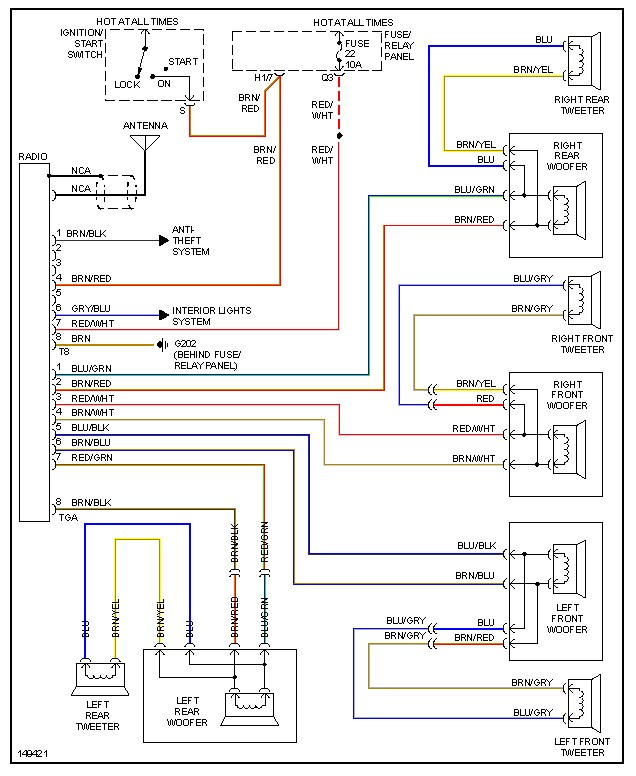 dan's vw page on 99 jetta radio wiring diagram