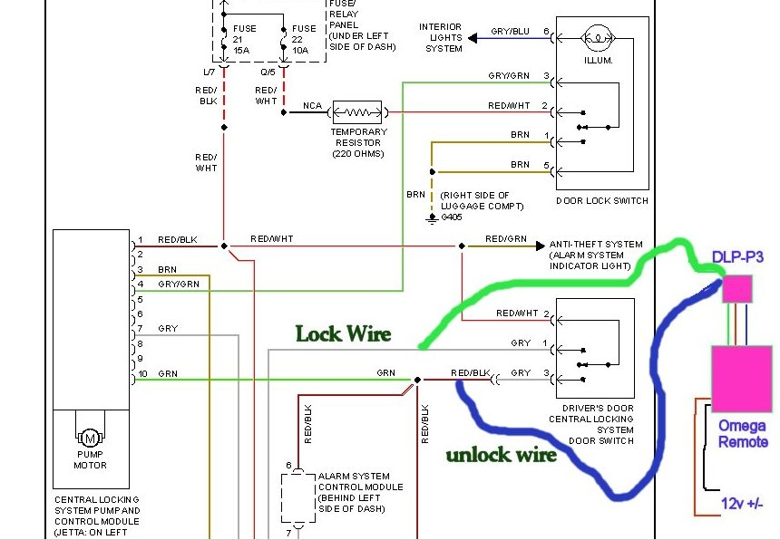 updateremotelock1 adding keyless entry mkiii remote door lock wiring diagram at cos-gaming.co